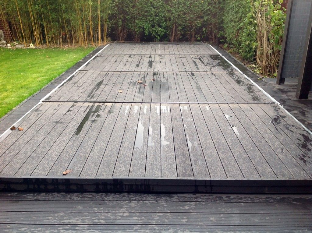Die poolabdeckung f r den winter pool pinterest for Gartenpool mit abdeckung