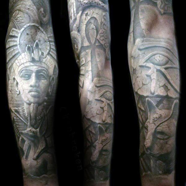 30 Great Full Sleeve Tattoos By Maksims Zotovs: 30 Hieroglyphics Tattoo Designs For Men