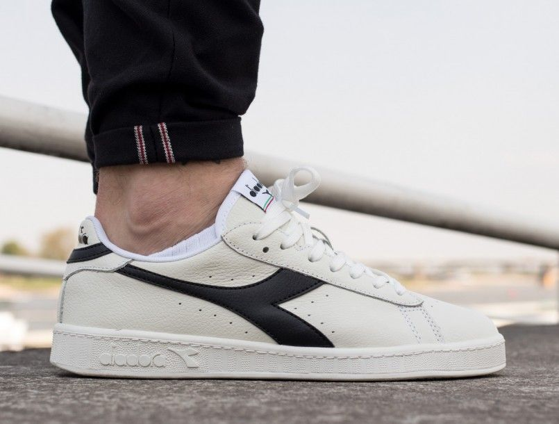 e24e3fa892 Diadora Game L Low white black white 1 | Scarpe in 2019 | Diadora ...