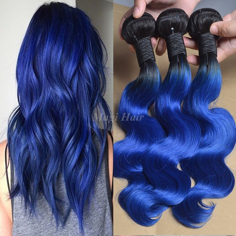 Find more human hair extensions information about grade 7a virgin find more human hair extensions information about grade 7a virgin peruvian 1bblue ombre hair pmusecretfo Gallery