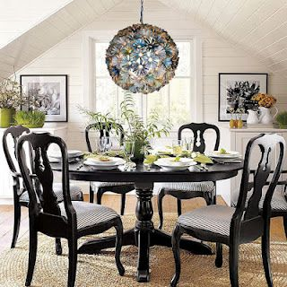 Globe Trotter Pottery Barn Dining Room Dining Table Black