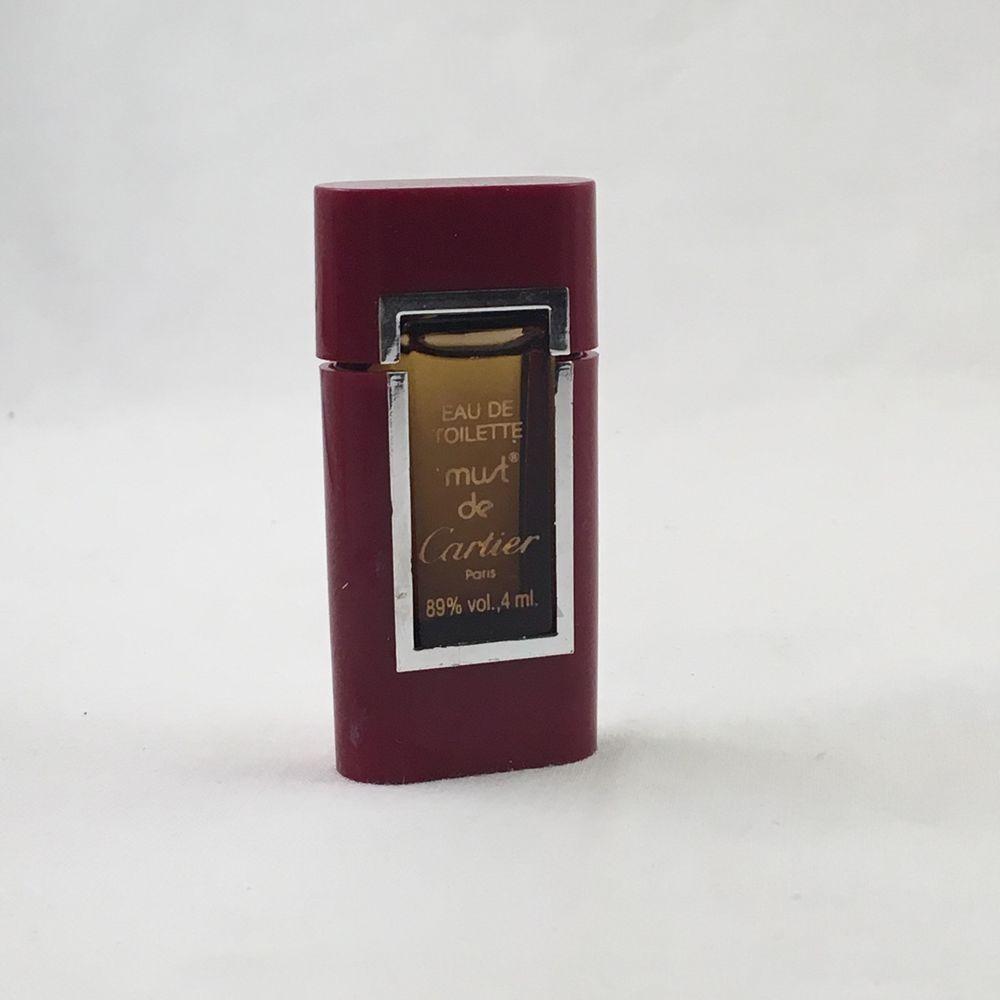 Vintage Must De Cartier Perfume Mini Edt Bottle Eau De Toilette
