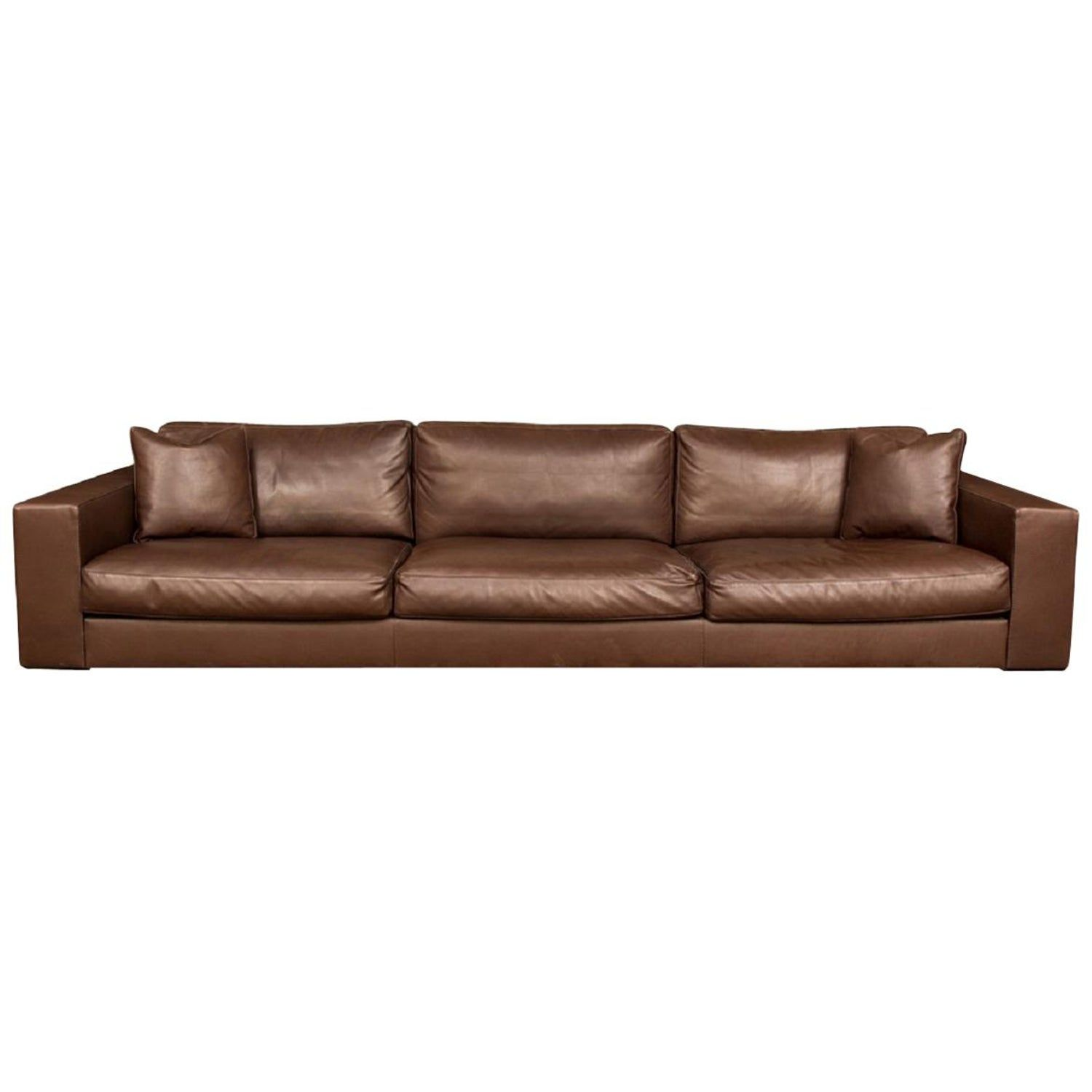 Fine Quality Brown Leather Sofa By Rivolta Italy Brown Leather Sofa Leather Sofa Brown Leather Ottoman