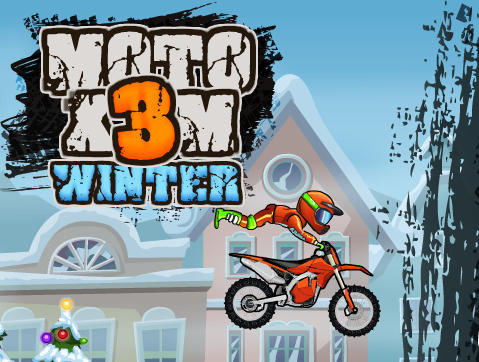 Moto X3m Winter Games Stunts Winter