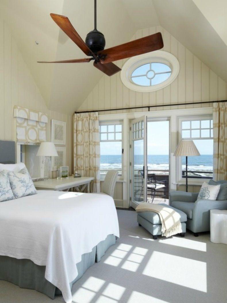 Dream Beach Cottage With Neutral Coastal Decor: Beach House Master Bedroom