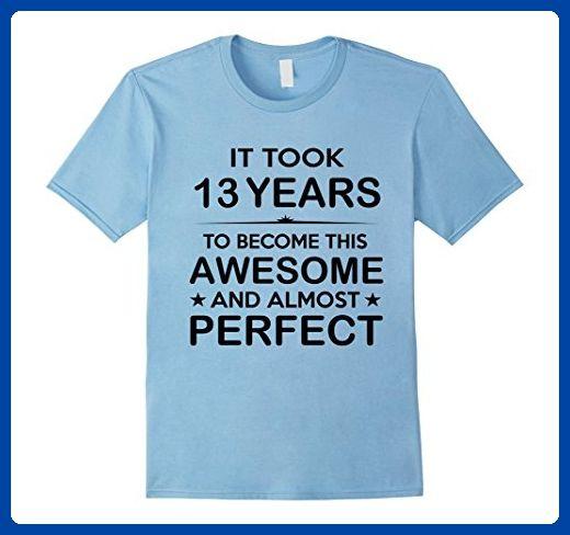 Mens Thirteen 13 Year Old 13th Birthday Gift Ideas For Boy Girl Medium Baby Blue