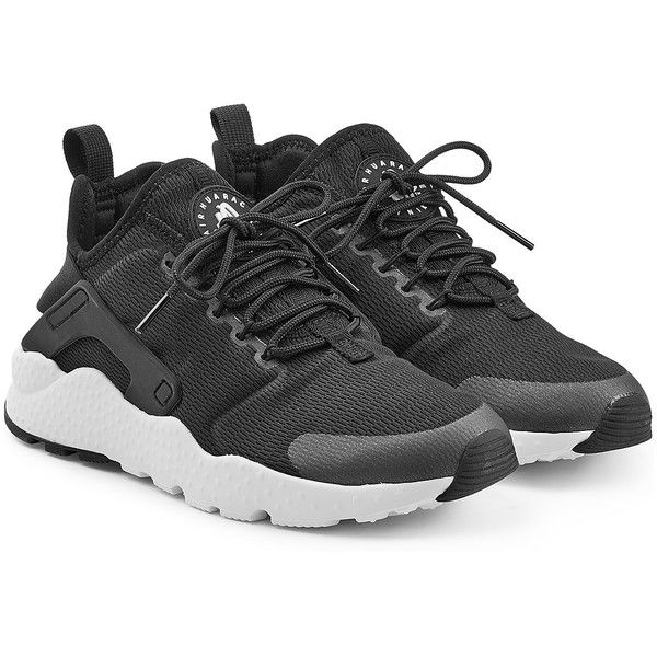 hot sales 0bd02 42f30 Nike Air Huarache Ultra Sneakers ( 115) ❤ liked on Polyvore featuring shoes,  sneakers, black, lace up shoes, black sneakers, nike trainers, black shoes  i ...