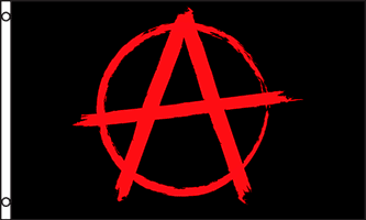 3 X 5 Foot Anarchy Flag Flag Banners Black And Red Neoplex