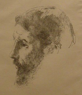 Odilon Redon (French, 1840-1916), Portrait of Pierre Bonnard, ca. 1900, lithograph on paper