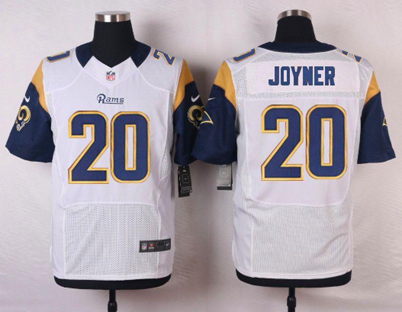 9b00ee1b NFL Customize St.Louis Rams 20 Joyner White Men Nike Elite Jerseys ...