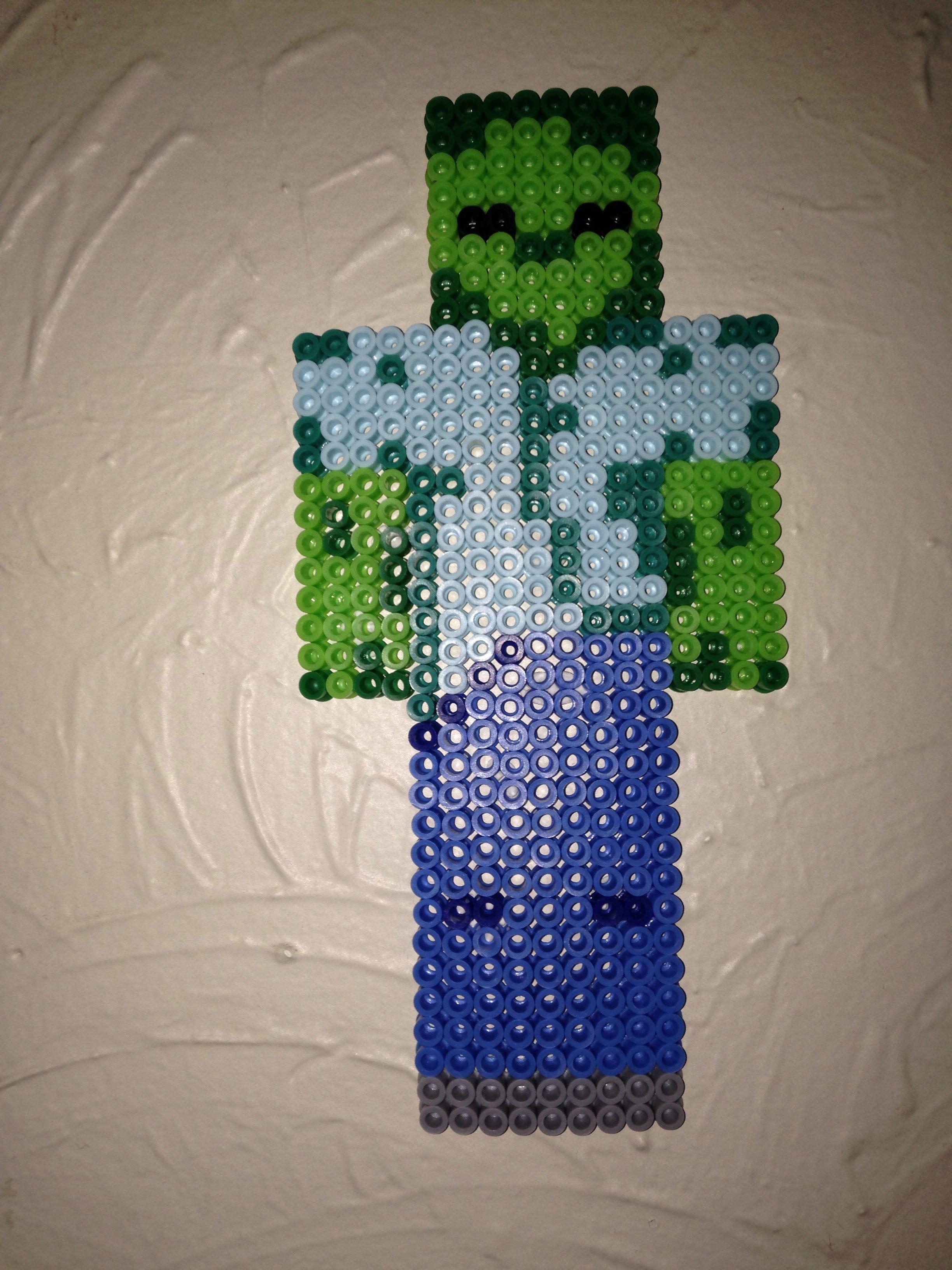 Zombie Minecraft Perler Beads