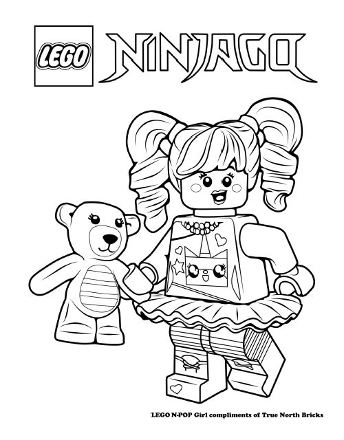LEGO Colouring Page – N-POP Girl | Pintar