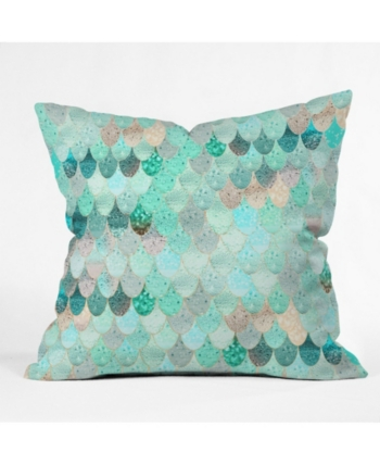 OUTDOOR Throw Pillow . Mermaid Outdoor
