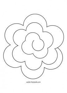FlowerSpiralTemplates  Templates    Spiral Template
