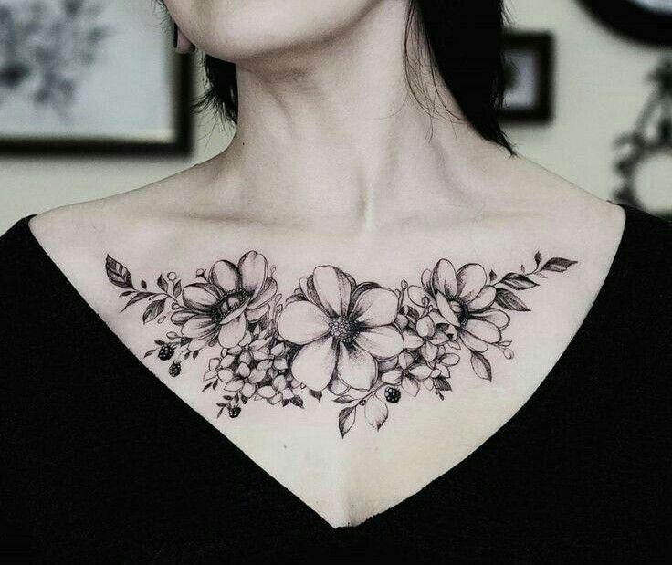 Pin Von Sarah Auf Tattoo Ideen Tattoos Flower Tattoos Und Chest