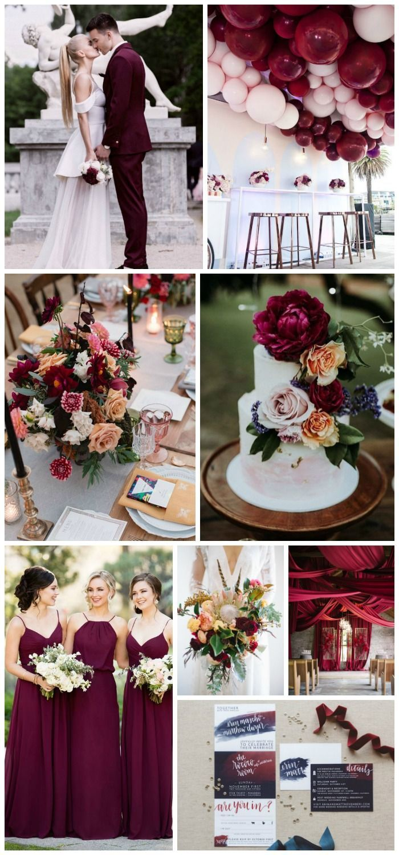 Burgundy Wedding Ideas That Will Take Your Breath Away | #weddings #weddinginspiration #bellethemagazine #weddingideas #modernwedding