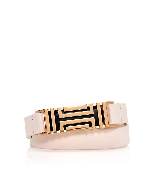 Tory Burch Tory Burch For Fitbit Fret Double-wrap Bracelet - WANT in Light  Oak