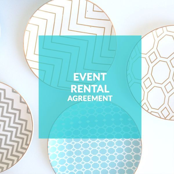 Event Rentals Template Contract Rental Company Wedding Event