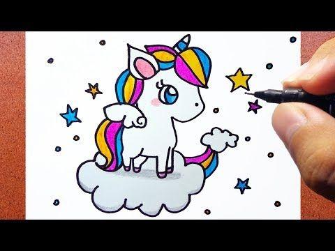 Como Desenhar Um Unicórnio Kawaii Youtube Desenhos