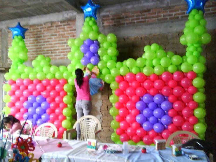Fotos De Decoracion Con Globos Para Fiestas Infantiles Party Balloons Balloon Decorations Balloon Party Games