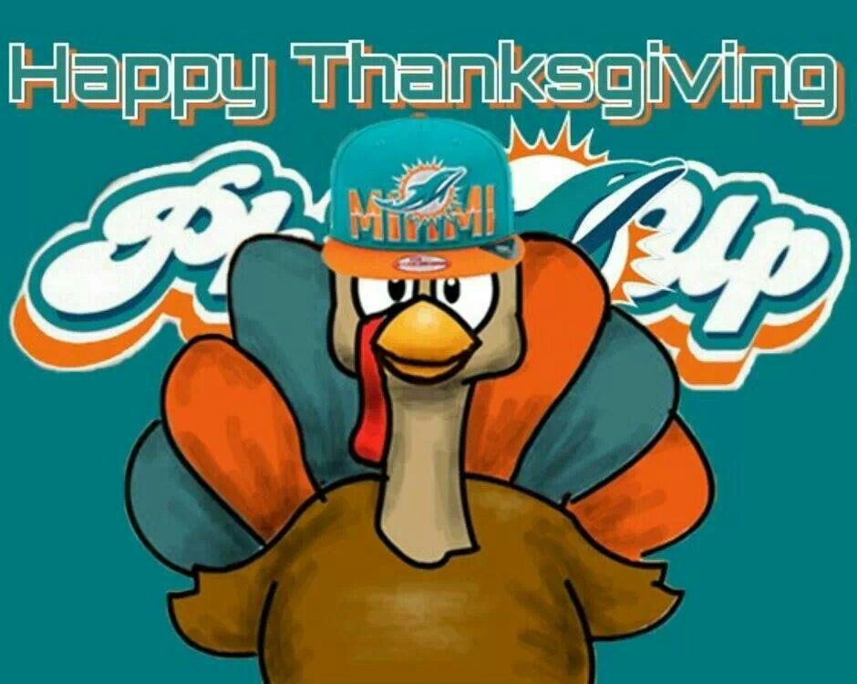 Happy Thanksgiving From The Phinstones Miami Dolphins Football Dolphins Football Dolphins