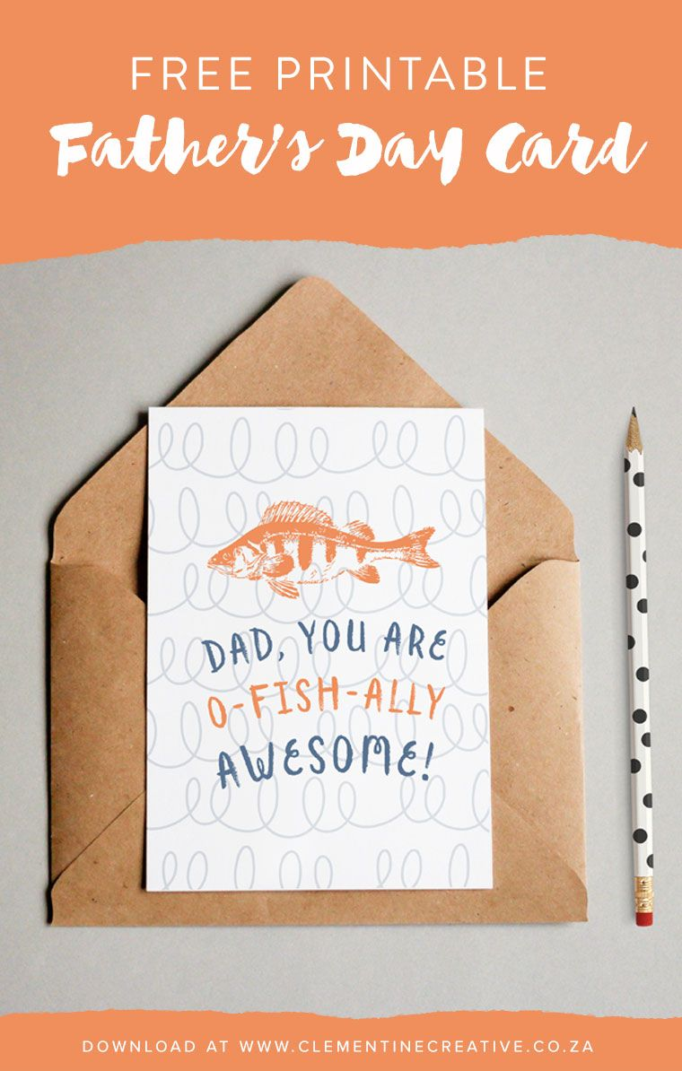 Funny Free Printable Father S Day Card O Fish Ally Awesome Diy Father S Day Cards Father S Day Diy Funny Fathers Day Card