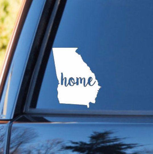 Georgia home decal georgia state decal homestate decals love sticker love decal car decal car stickers bumper 102