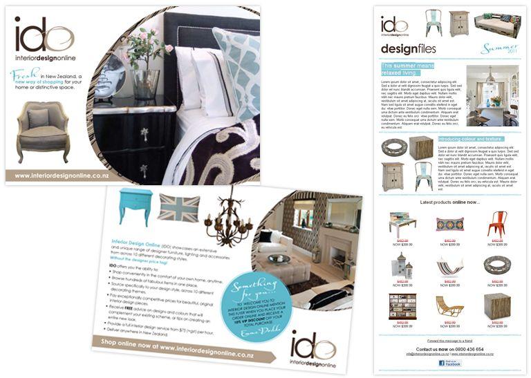 Interior Design Online branding by Creative Current Flyer