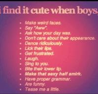 Cute Things Guys Do