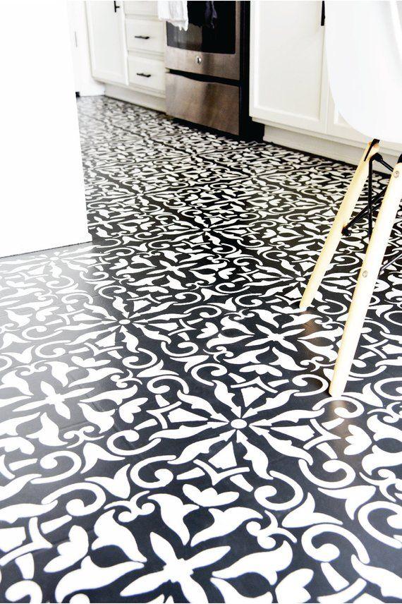 Fliesen Sie Boden Fliesen Schablone Möbel Stencil