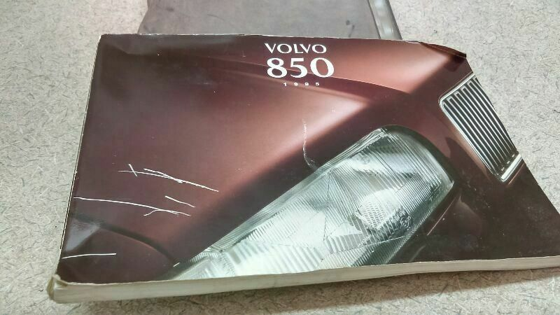 Owners Manual Guide Book Fits 1995 Volvo 850 M 170468 Volvo Volvo 850 Volvo 2004 Chevrolet Impala