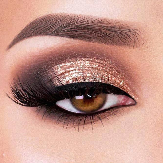 30 Cool Makeup Looks For Hazel Eyes And A Tutorial For Dessert #eyemakeup