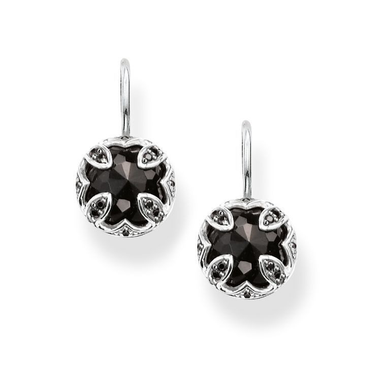 White jewelry rhinestones black metal lotus buttons