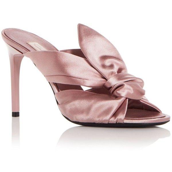 Oscar de la Renta Women's Paige Satin Knot High-Heel Slide Sandals O51O2fvZX