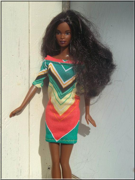 Barbie Doll Clothes Chevron Knit Dress for by BarbieBoutiqueBasics