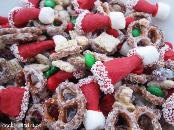 Santa hat party mix