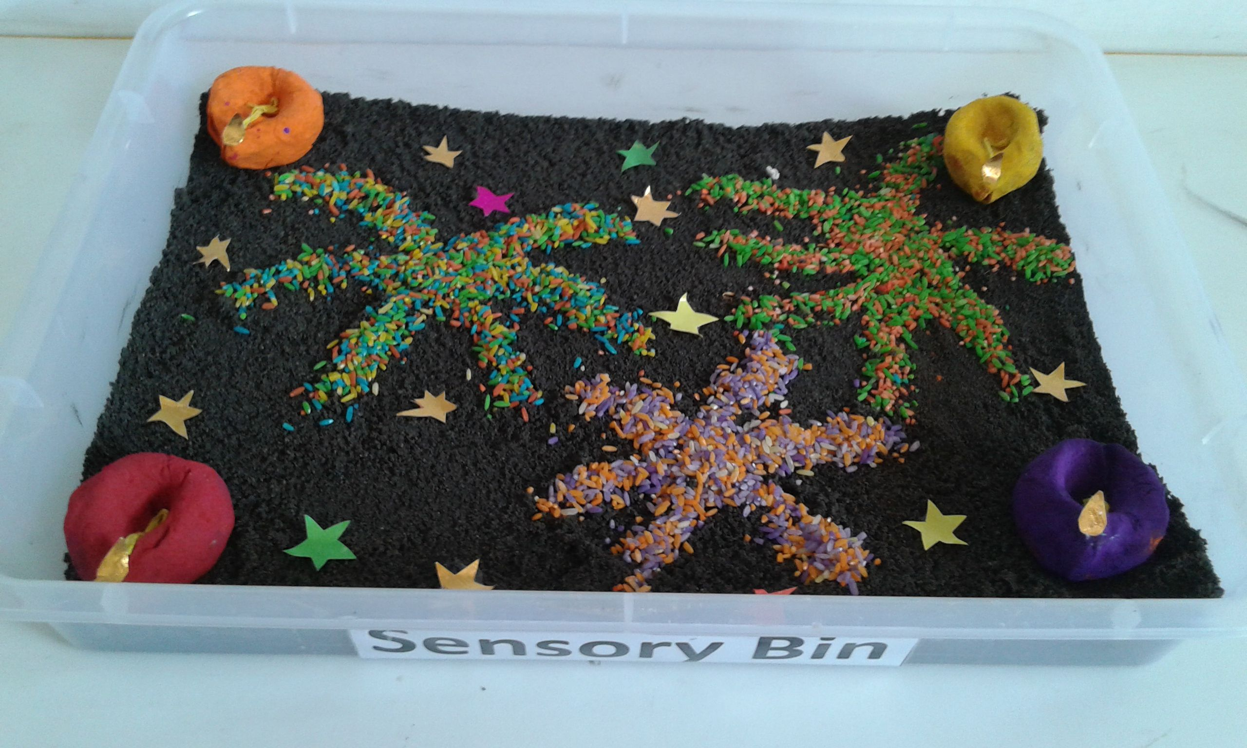 Diwali Sensory Bins