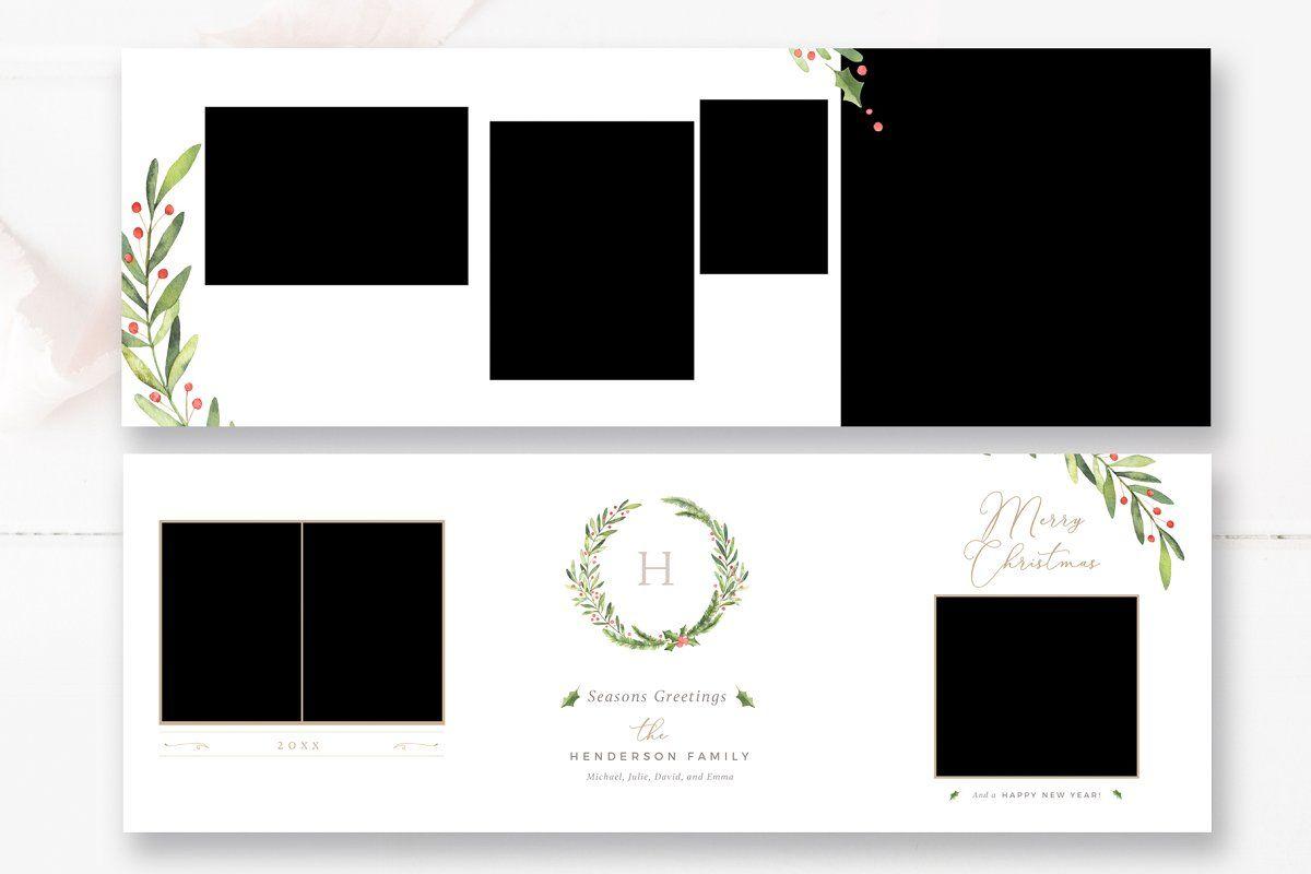 Trifold 5x5 Christmas Card Psd Photoshop Template Design Christmas Card Design Christmas Card Template