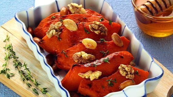 Тыква с медом и орехами | Рецепт | Идеи для блюд ...
