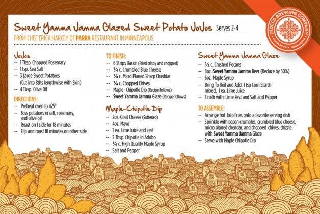 Sweet Potato JoJos with Indeed Brewing Yamma Jamma Glaze.