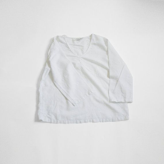 ply vintage - vintage white linen tunic