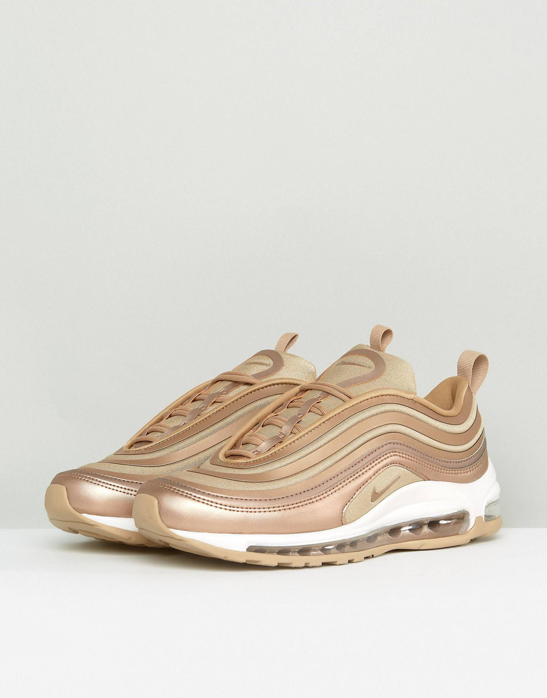 best cheap b9fb5 bc6ef Nike Air Max 97 Trainers In Metallic Cashmere | Sneaker ...