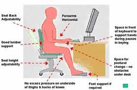 This Picture Shows About How To Sit Properly In Front Of Computer The Space Of The Hand Leg With The Computer If You D Used Computers Computer Skills Health