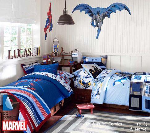 Batman™ Duvet Cover   Pottery Barn Kids Boys bedroom idea? (Batman ...