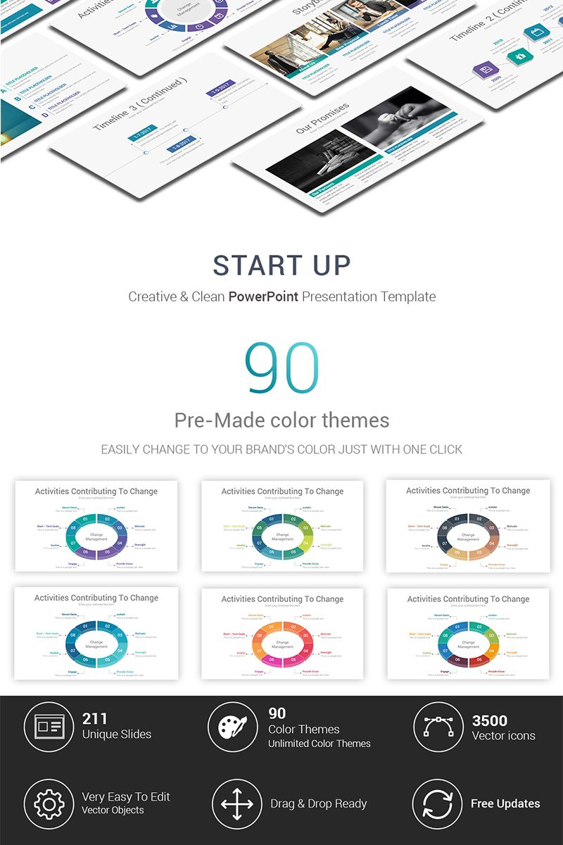 Start up Presentation PowerPoint Template 69469