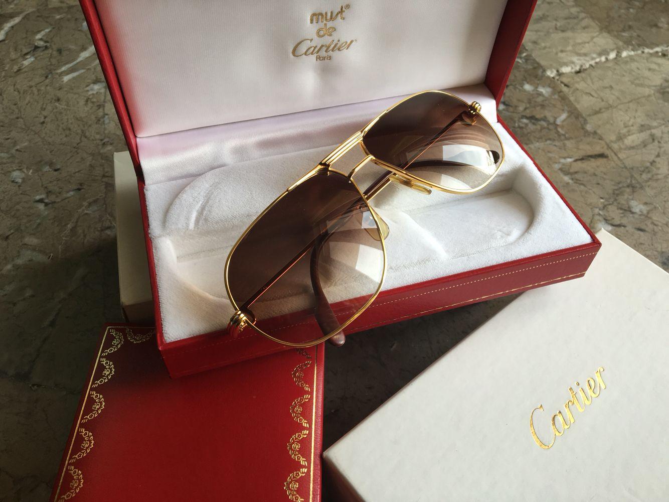 70270de408d Giverny Wood de Cartier occhiali bubinga Or - Abbigliamento e Accessori In  vendita a Caserta