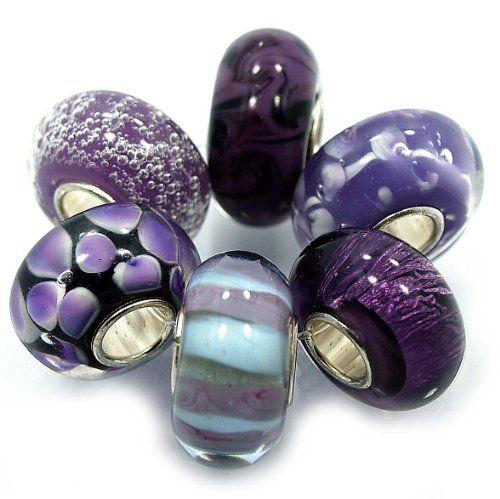 FREE UK P/&P 6 Colours MURANO STYLE GLASS FASHION JEWELLERY CHARM BRACELET