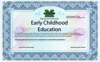 Yo he recibido un licenciatura en educación de la primera infancia (un requisito para el trabajo).