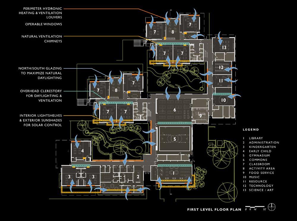 benjamin franklin elementary school floor plan diagram