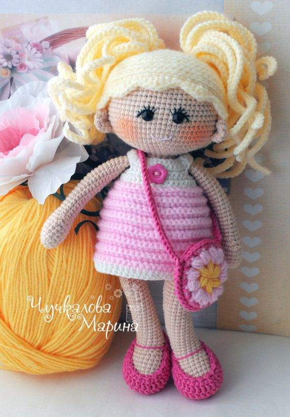 Crochet doll pattern Pumposhka PDF by Kumutushkatoys on Etsy
